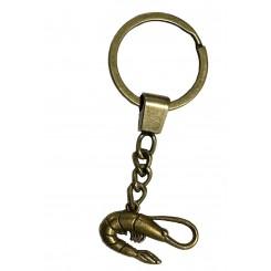 Porte clé crevette bronze