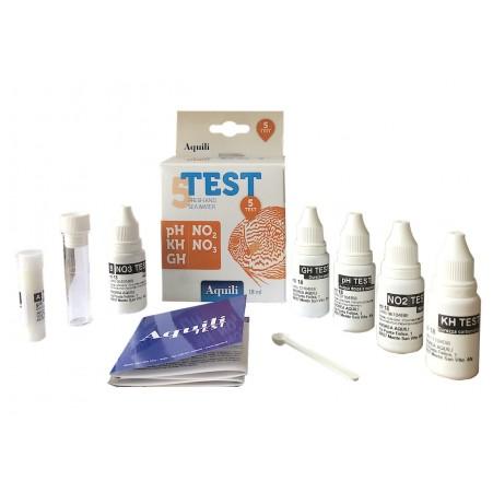 Mallette des 5 tests principaux pour aqarium