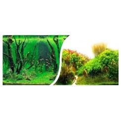 poster de fond d'aquarium motif plantation 40 cm