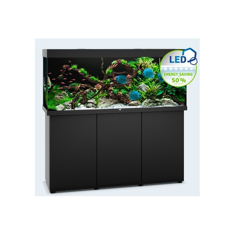 Ensemble Aquarium et meuble Juwel Rio 450 led noir