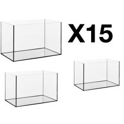 15 cuves d'aquarium de 54 litres