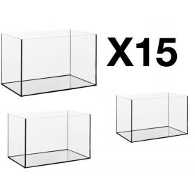 15 cuves d'aquarium de 45 litres