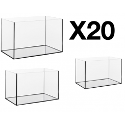 Lot de 20 cuves d'aquarium de 25 litres