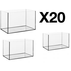 Lot de 20 cuves d'aquarium de 25 litres
