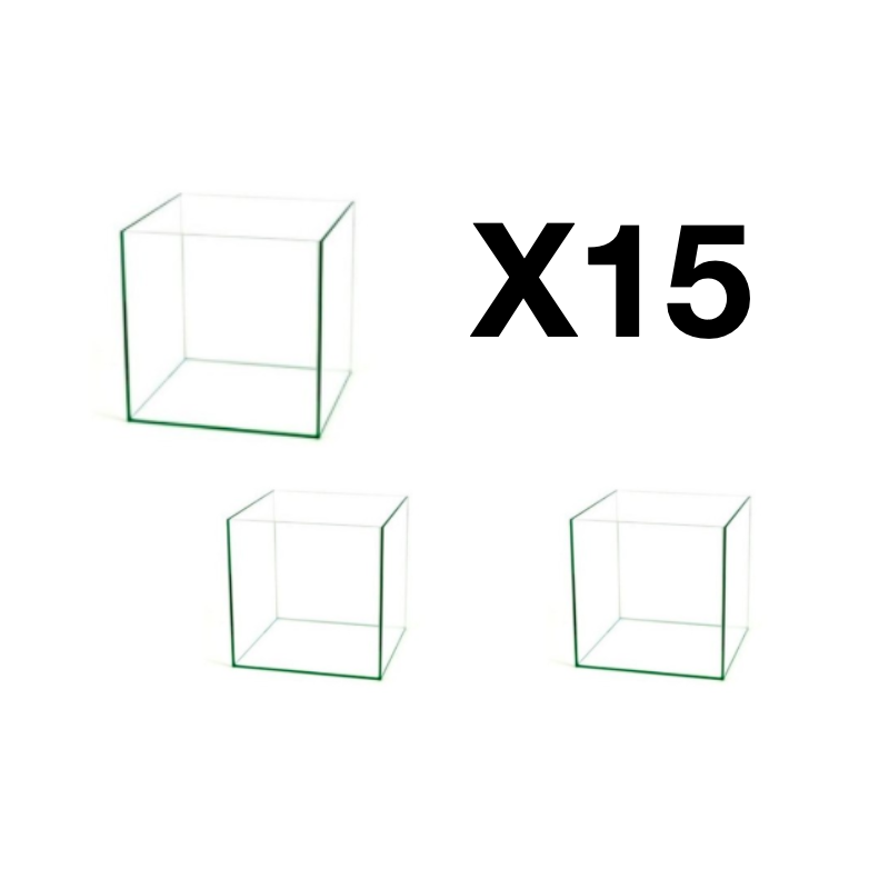 Lot de 15 cuves de cube de 30L