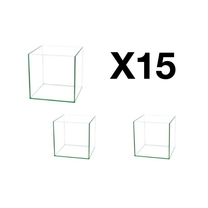 Lot de 15 cuves de cube de 49L