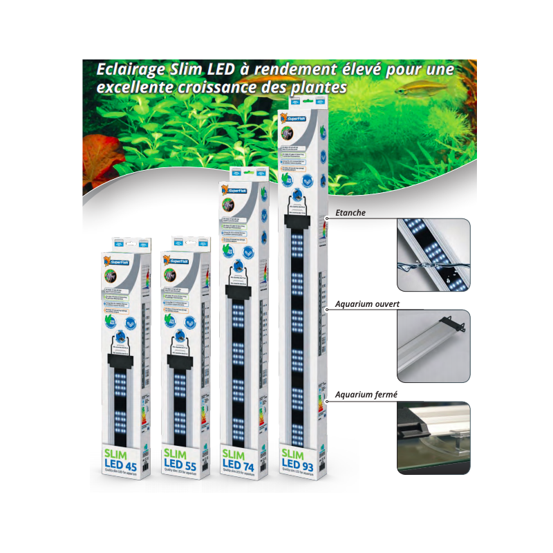 Rampe aquarium slim LED 74 cm