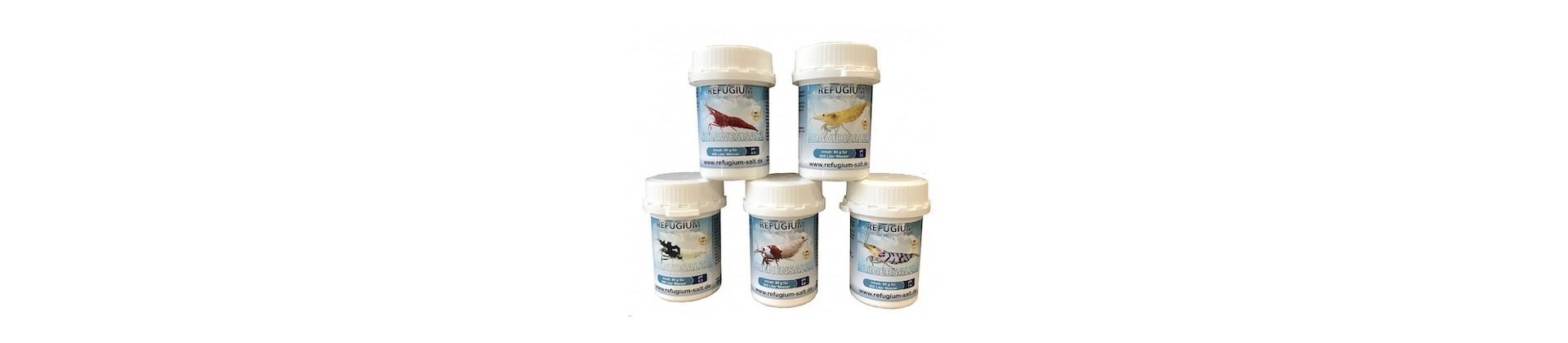 Sels minéraux pour crevettes et poissons d'aquarium