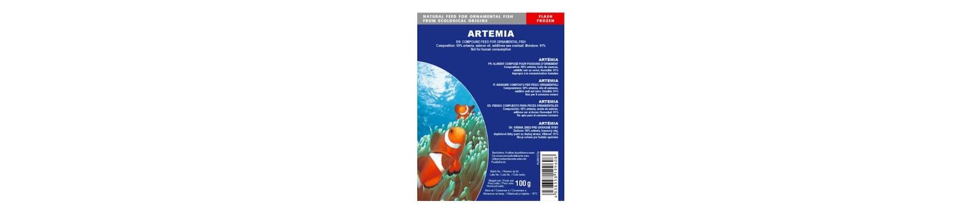 Aliments congelés pour aquarium