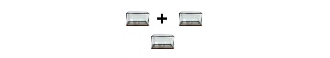 Cuve nue d'aquarium en quantité